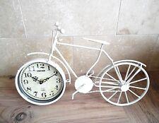 Clock-cycle-Analogue Retro Bike Clock-Ivory 36cm/ Lounge/OFFICE-en Boîte-New