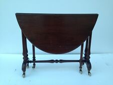 MAHOGANY OVAL DROP LEAF TABLE EARLY VICTORIAN