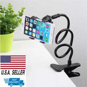 Lazy Bracket Universal Flexible Mobile Phone Stand Mount Holder Bed Desktop USA