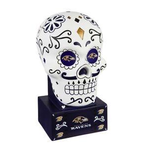 Baltimore Ravens Sugar Skull Statue NFL - Free Ship Go Ravens