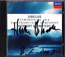 Herbert BLOMSTEDT Signiert SIBELIUS Symphony No.3 & 6 DECCA CD San Francisco SO