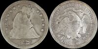 1876 CC Carson City Seated Liberty Quarter Type 2 Motto US Silver Type Old Coin