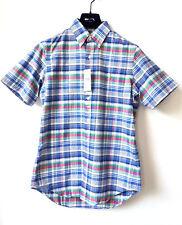 RALPH LAUREN Herren Kurzarm Hemd Button Down Shirt S Kariert Blau Grün UVP €89