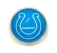 Fits Ginger Snap Button Indianapolis Colts Snaps Noosa Football Jewelry 18mm