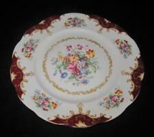 Royal Albert CANTERBURY Dinner Plate, Hampton Shape, Red Panels, Floral