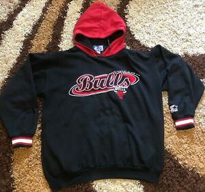 STARTER NBA hoodie CHICAGO BULLS  Basketball adult L USA made in KOREA VINTAGE
