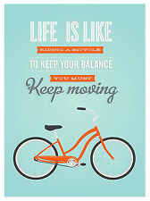 Life Is Like Riding A Bike Retro metal Sign/Plaque wall Novelty Gift Present