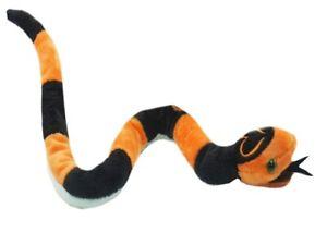 1 X SNAKE 50cm brown and orange stuffed animal cuddle buddies kids toy Christmas