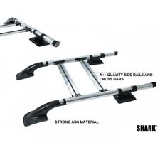 FITS NISSAN NAVARA NP300 FRONTIER ROOF RAILS CROSS BARS SET SHARK STYLE 2015-UP