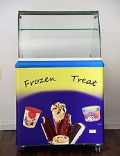 Zebra 4 Dipping Buckets Ice Cream Freezer, Etl certified, interior Led light, Cu