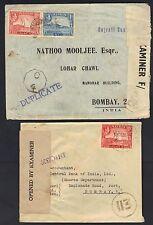 Aden To Inde 1943 45 Deux Aden Camp Censuré Guerre Temps Housses To Bombay