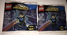 2 x Nightwing Lego 30606 Minifigure Polybag DC Comic Super Heroes Batman Lot of