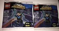 2 x Nightwing Lego 30606 Minifigure Polybag DC Comic Super Heroes Batman Lot of