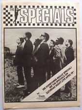THE SPECIALS original 1980 POSTER ADVERT SATURDAY NIGHT LIVE 2 TONE SKA