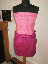 LULU & Red Designer MINI JUPE 8-10 nouveau pin-up rose fuchsia Fête Sexy
