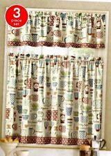 Cafe Latte Mocha Tiers & Valance  Interiors by Design Polyester Multicolor