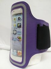 PURPLE Armband Case Jogging Running Apple iPhone 5 5S Holder Cover with Strap