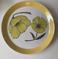 """Mikasa Duplex Duet Ben Seibel Serving Chop Plate 12.5"""" yellow flower poppy"""
