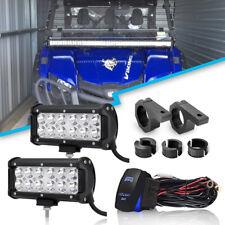 """DOT 2X 7""""36W LED WORK LIGHT bar SPOT 4WD Kit For Land Rover Defender 90/110"""