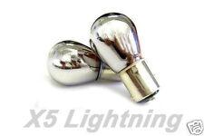 1157 2057 2357 7528 BAY15D Chrome Silver white Light (2)Bulbs Turn Signal Brake