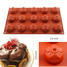 15-Cavity Mini Cherry Blossom Baking Mould Cookie Soap Mold Cupcake Pan Bakeware