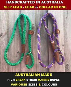 Dog SLIP Lead QUALITY Leash Collar Harness Solid Rope Heavy Duty AUSTRALIAN MADE