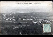 CHASSAGNE-MONTRACHET (21) VIGNOBLE , VILLAS & EGLISE en vue aérienne en 1906
