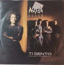 "MATIA BAZAR TI SENTO / FIUMI DI PAROLE ITALIAN 7"" SINGLE PS ELECTRONIC 1985"