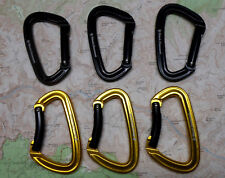 Black Diamond Positron Bent Straight Gate Carabiner 6pak Rock Climbing IR bkyl
