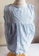 Ancien tablier pour petite fille 12 mois, linge vintage