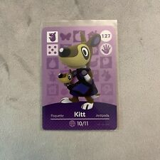 Kitt #127 Animal Crossing Amiibo Card Authentic Nintendo Mint Series 2