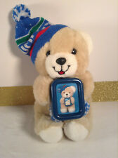 Vintage 1980's Winter 8'' Small Humfrey Bear Holding His Picture *RARE*