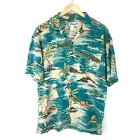 Utility Vintage Men's Hawaiian Shirt - Medium M - Short Sleeve - Floral