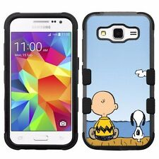 for Samsung Galaxy Core Prime G360 Impact Hybrid Case Snoopy Charlie Brown #FS