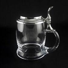 Pewter and Crystal Beer Mug/Tankard - Swiss Made Free Shipping