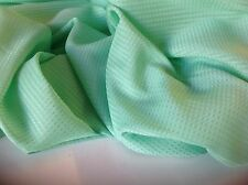 "Beautiful Italian Green Silk & Cotton Dobbi Fabric 55""141cm European Cloth Craft"