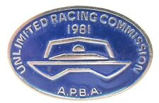 1981 U.R.C. / A.P.B.A. SEASON PASS tack pin pinback Hydroplane Boat racing c3