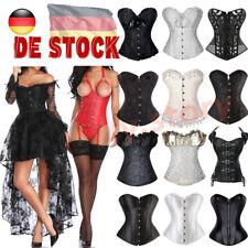 Damen Dessous Gothic Vintage Vollbrust Korsett Corsage Korsage Schwarz kleid NEU