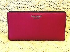 Kate Spade New York Cameron Large Slim Leather Bifold Wallet Rosso Red $119 NWT