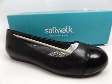 SOFTWALK Nadia Women's Napa Black Leather Patent Flats Shoes SZ 5.0 M,  D12801