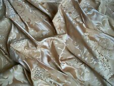 "Vintage Cotton Blend Damask Fabric Remnant - Satin Finish - 71"" x 35"" - C.1980's"