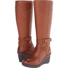 Clarks Ladies Knee-High Waterproof Boot NATIRA KAE GTX Brown Leat UK 7.5 / 41.5