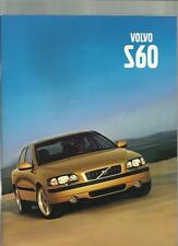 VOLVO S60 SALES BROCHURE  2000 2001