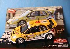 SUZUKI SX4 WRC #11 RALLYE MONTE CARLO 2008 GARDEMEISTER TUOMINEN IXO 1/43 ALTAYA