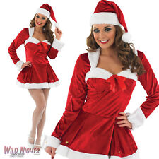 FANCY DRESS COSTUME LADIES RED CHRISTMAS MISSY CLAUSE SIZES 8-22