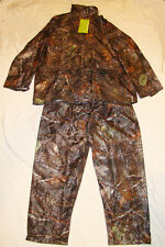 Waterproof, Windproof, Camouflage Deer Hunting Pants & Jacket Set Burly Camo L