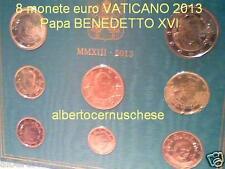 2013 8 monete fdc 3,88 EURO VATICANO BU Vatican KMS Vatikan ultim Benedetto XVI