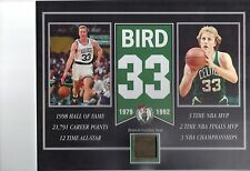 LARRY BIRD BOSTON CELTICS BOSTON GARDEN SEAT 8 X 10 COA