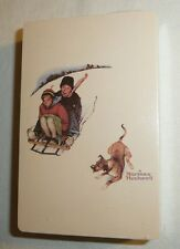 Normal Rockwell Themed Deck of Playing Cards New Sealed Trump Sled Dog vtg USA