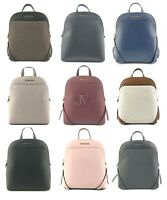 Michael Kors Emmy Large Leather Signature PVC Dome Backpack Bag